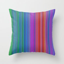 Abstract rainbow dots and lines Throw Pillow
