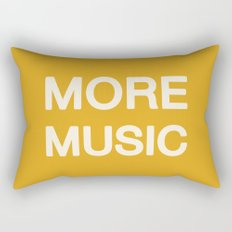 More music -  Yellow Rectangular Pillow