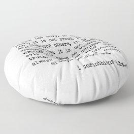 Love is Patient, Love is Kind Floor Pillow