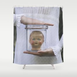 Doll in a jar Shower Curtain