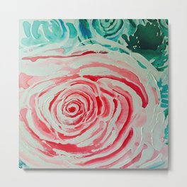 Where the Pink Roses Grow, Summer is Ending and Romantic Fall Nights are Here Metal Print