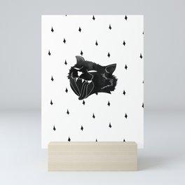 Hell cat tattoo oldskool heritage print. Meow pattern Mini Art Print