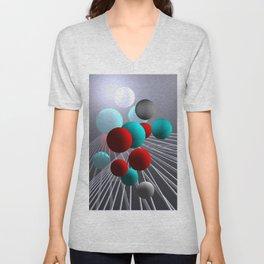crazy lines and balls -10- Unisex V-Neck