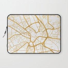 BRADFORD ENGLAND CITY STREET MAP ART Laptop Sleeve