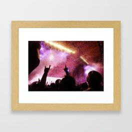 Rock Show Framed Art Print