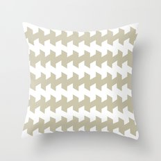 jaggered and staggered in tidal foam Throw Pillow