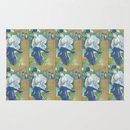 """Henri de Toulouse-Lautrec """"Jane Avril Dancing"""" Rug"""