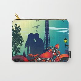 Romantic Kiss in Paris Carry-All Pouch
