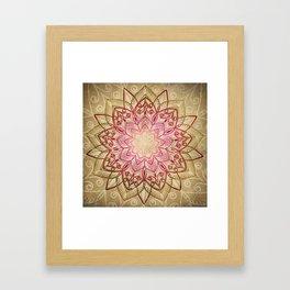 Desert Mandala Framed Art Print