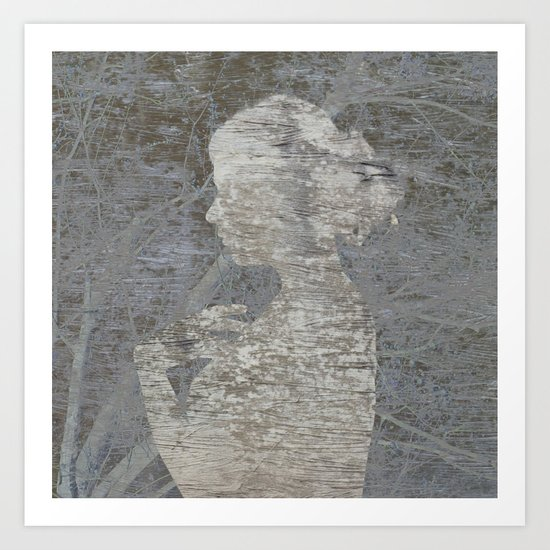 a natural silhouette, two Art Print