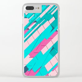 Jagged 80s Clear iPhone Case