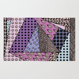 simple purple doodles . picture Rug