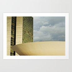 Brasilia, Brazil Architecture Art Print