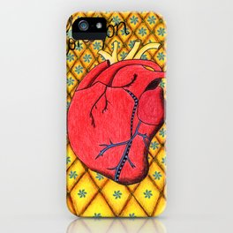 pineapple heart iPhone Case