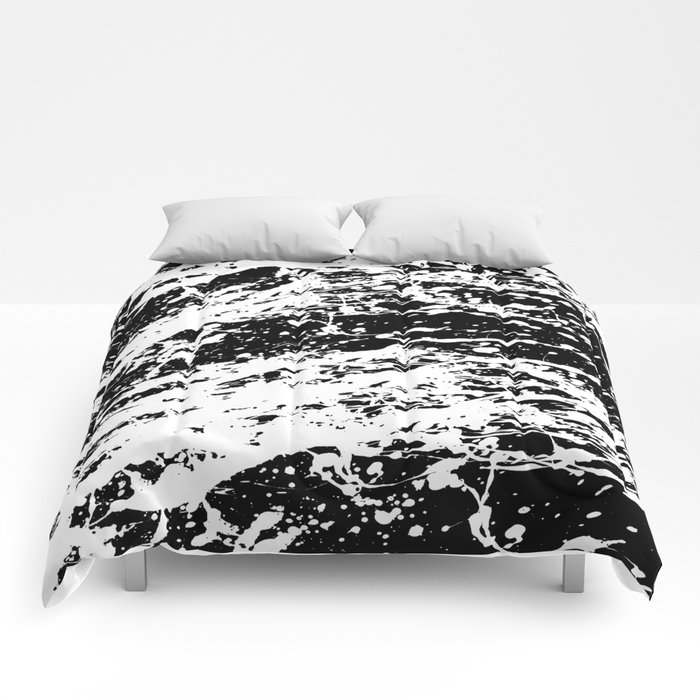 Black And White Paint Splatter Comforters By Textart