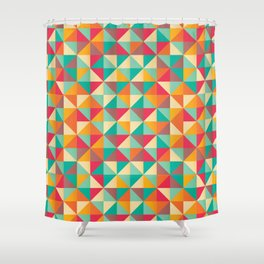 Triangles 001 Shower Curtain