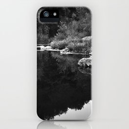 Shoreline Reflection On the Water iPhone Case