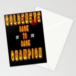 Goldeneye Back To Back Champion 1997 1998 Old Video Game 2020 Design Stationery Cards
