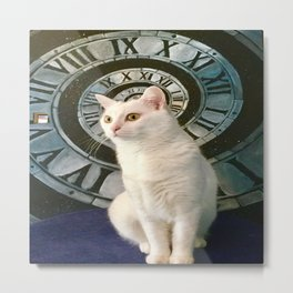 The mysterious kitty Tyche Metal Print
