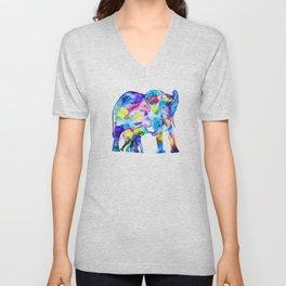 Colorful family elephants Unisex V-Neck