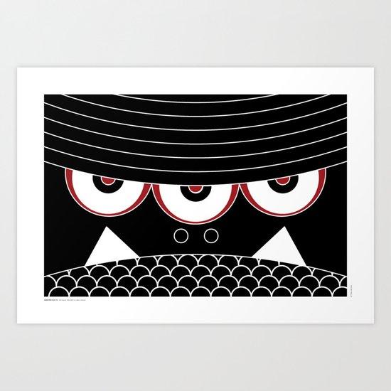 MONSTER FACE 01 Art Print
