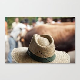 Hat & Cow Canvas Print