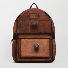 Wooden cabinet with drawers Backpack