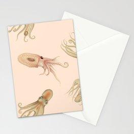 Cephalopods on Blush 2 Stationery Cards
