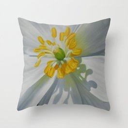 Bloodroot Up Close Throw Pillow
