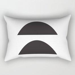 Wonky Arches   Black + White Rectangular Pillow