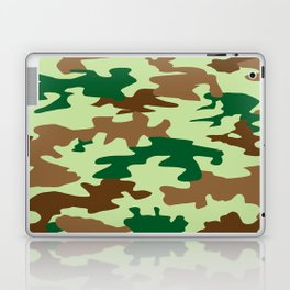 Camouflage Print Pattern - Greens & Browns Laptop & iPad Skin