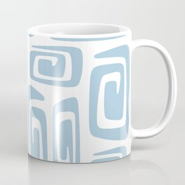 Mid Century Modern Cosmic Abstract 613 Light Blue Coffee Mug