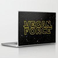 vegan Laptop & iPad Skins featuring Vegan Force by Spyck