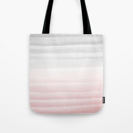 Touching Blush Gray Watercolor Abstract Stripe #1 #painting #decor #art #society6 Tote Bag