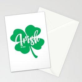 Irish or Nah Funny St. Patrick's Day Shirt Stationery Cards