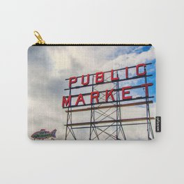 {The Seattle Collection} Pike Place Market #1 Carry-All Pouch