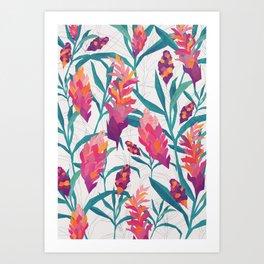 Ginger Pattern Art Print