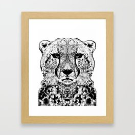 Patterned Cheetah Framed Art Print