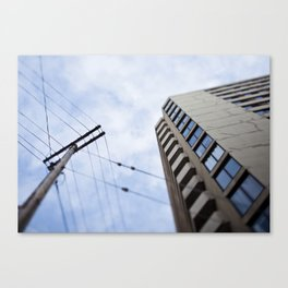 The first time I visited a city, I sunburned the roof of my mouth. Canvas Print