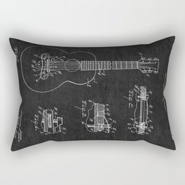 Gibson Acoustic Guitar Patent Rectangular Pillow