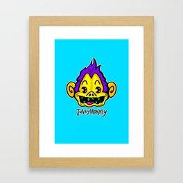 Crack Monkey Framed Art Print