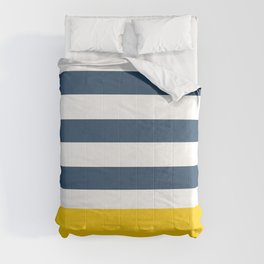 Navy and yellow stripes Comforters
