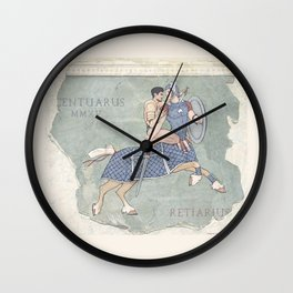 Centaurus and Retiarius Wall Clock