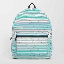 Sky Blue Random Line Sections Backpack