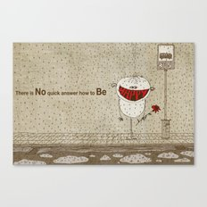 How to be happy Canvas Print