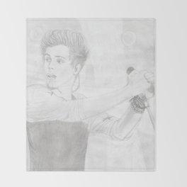 Luke 5 Seconds in Concert Drawing Throw Blanket