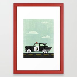 Atomic County Police Framed Art Print