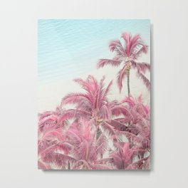 Dream Vacation - Pink Palm Trees  Metal Print