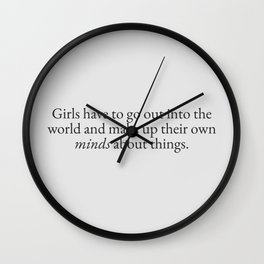 Go Out into the World Wall Clock