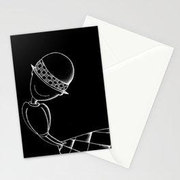 Ludo Black Stationery Cards